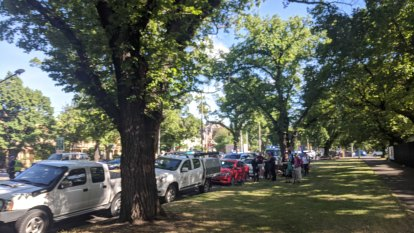 Cyclist rushed to hospital after collision on Royal Parade