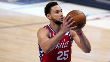 Ben Simmons suffered from the free-throw line in the NBA playoffs.