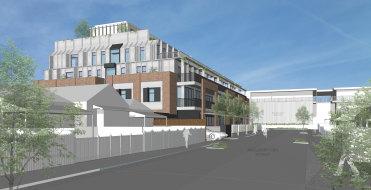 An artist's illustration of the new development to be built on Marlborough St, Balaclava.