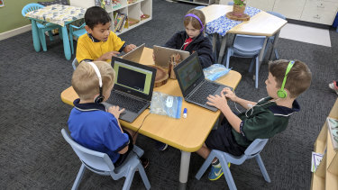 Students use Acer Chromebooks at St Luke's Anglican College.