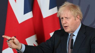 UK Prime Minister Boris Johnson.