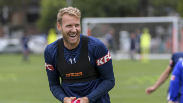 A training knock kept Swede Ola Toivonen out against the Mariners, but he's ready to go for Victory again.