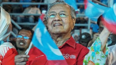 Dr. Mahathir Mohamad former Malaysian PM and now opposition candidate.
