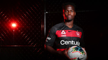 Mohamed Adam signed his first professional contract with Western Sydney last month, and is in line for his A-League debut on Saturday.