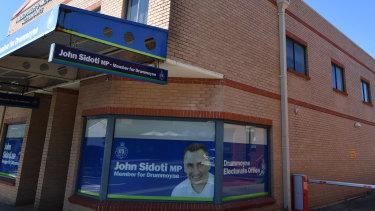 Mr Sidoti's electorate office in Five Dock.