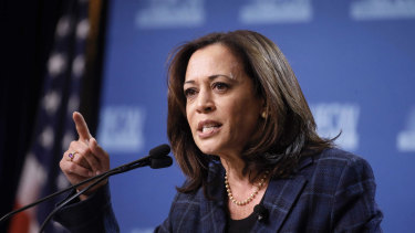 In the running to be Biden's VP pick: Kamala Harris.