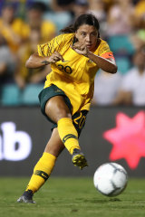 Leader: Sam Kerr was made Matildas captain before the Cup of Nations and will lead the side to the World Cup in France.