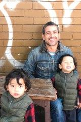 Gob-smacked: Sydney caterer Savva Savas and his sons Dane and Leo.