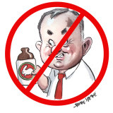 No booze for you: Labor leader Anthony Albanese has cracked down on office inebriation. Illustration: John Shakespeare