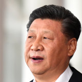 """Tell China's story well"": China's President Xi Jinping."