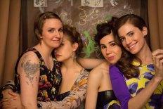 Lena Dunham as Hannah Horvath, Kirke as Jessa Johansson, Zosia Mamet as Shoshanna Shapiro,  Allison Williams as Marnie Michaels in Girls.