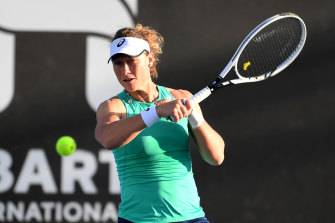 Samantha Stosur enjoyed success in the first round in Brisbane, but could not repeat the feat in Hobart.