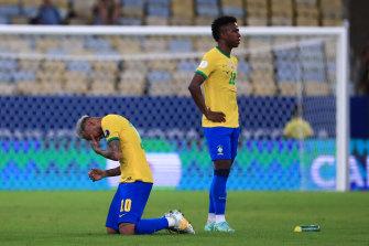 A heartbroken Neymar after the final whistle.