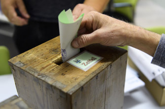 Swiss voters cast their ballots on Saturday.