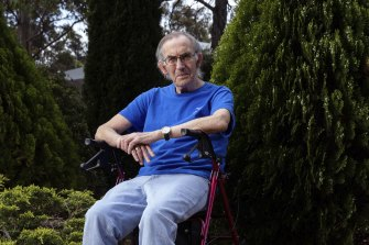 Paul Russell, 76, caught COVID-19 in August at his aged care home. He thanks vaccination for his minimal symptoms.