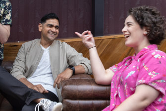 Dilruk Jayasinha with fellow comedian Jude Perl at the comedy festival launch in March.