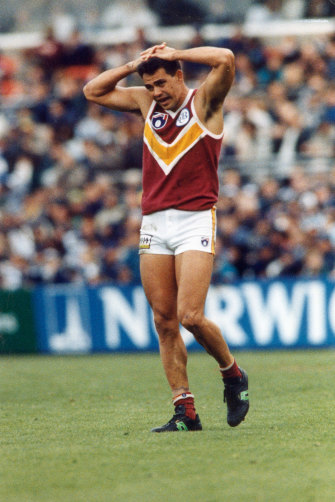Michael McLean during his playing days with the Brisbane Bears.