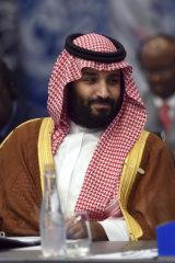 Saudi crown prince Mohammed bin Salman.