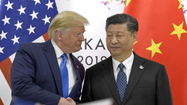 President Donald Trump with China's Xi Jinping in Osaka.
