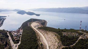 A site where a bridge linking the city of Dubrovnik to the rest of Croatia will be built.