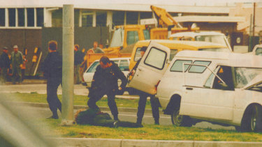 Stephen Asling is arrested by the Special Operations Group, 1992.