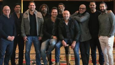From left: Phil Egan, Che Cockatoo-Collins, Des Headland, Derek Kickett, Gavin Wanganeen, Scott Chisholm, Peter Matera, Kevin Caton, Michael O'Loughlin and Courtney Dempsey.