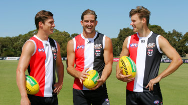 St Kilda trio Jack Steele, Josh Bruce and Logan Austin are set to return to Canberra to play the Giants next year.