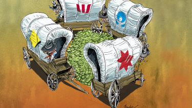 As the cash rate falls, more savers are earning next-to-nothing or even zero on their money. Illustration: Joe Benke
