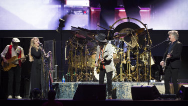 Fleetwood Mac in concert at Qudos Bank Arena on Thursday night.