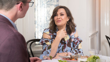 Lisa Wilkinson lunches with Michael Lallo at Entrecote in South Yarra.