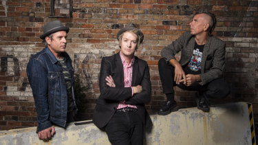 The Living End are (left to right) Andy Strachan, Chris Cheney and Scott Owen.