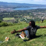 Abdul Aziz Muhamat, former refugee on Manus Island, now in Geneva.