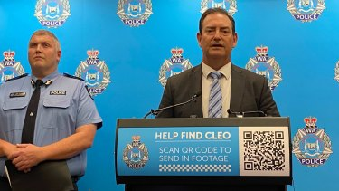 Superintendent Rod Wilde with acting WA police commissioner Col Blanch.
