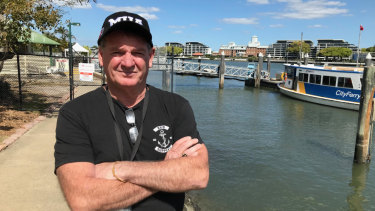 Steve Cumberlidge state secretary of the Maritime Workers Union at the Hawthorne Ferry.  'Staff are really pissed off.'