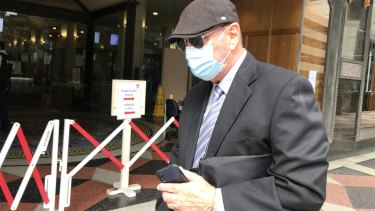 NSW Corrections officer Paul Bent leaves the Downing Centre court on Wednesday.
