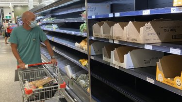 Henk Huijser came to West End's Coles looking for potatoes, but it was one product in short supply.