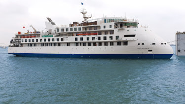 Many of the passengers on the Greg Mortimer cruise ship, pictured, are Australians.