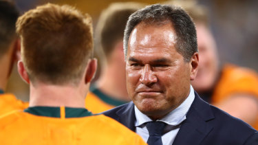 Dave Rennie's Wallabies are back on the road.
