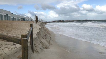$200,000 Port Beach rock 'wall' withstands first winter onslaught