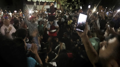 In a rare sign of public dissent, Egyptian protesters take to the streets