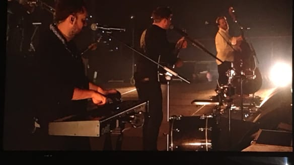 Mumford & Sons reach back into their folk-tinged catalogue of hits in Brisbane.