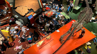 Hundreds stage 'die-in' at Queensland Museum