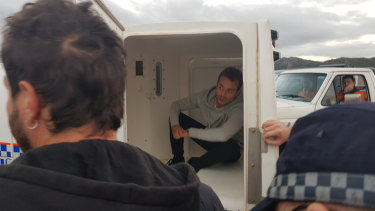 French journalist Hugo Clement and his film crew were arrested while covering anti-Adani protests outside the Abbot Point coal terminal in Bowen, Queensland on Monday, July 22.