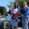 Mercedes send Formula One car to home of terminally ill boy