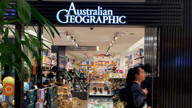 The Australian Geographic store in Westfield Parramatta, which will be rebranded as Curious Planet.