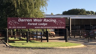 Darren Weir's stables in Miners Rest, near Ballarat.