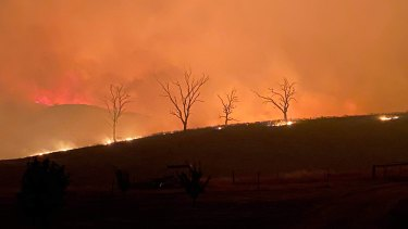 The fire at Buchan at the property of Kirstie Pearce in early January.
