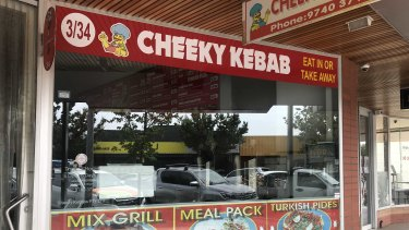 A Sunbury kebab shop is closed after its owner was shot in the leg as he returned home from a family wedding.