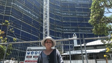 Kangaroo Point resident Lori Sexton says the over-development of Kangaroo Point is not being checked by Brisbane City Council planners.