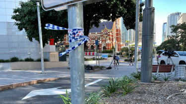 The teen was stabbed in the Brisbane CBD.